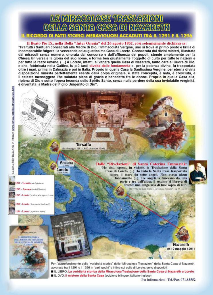 Libro: La veridicita' storica della miracolosa traslazione della Santa Casa di Nazareth a Loreto